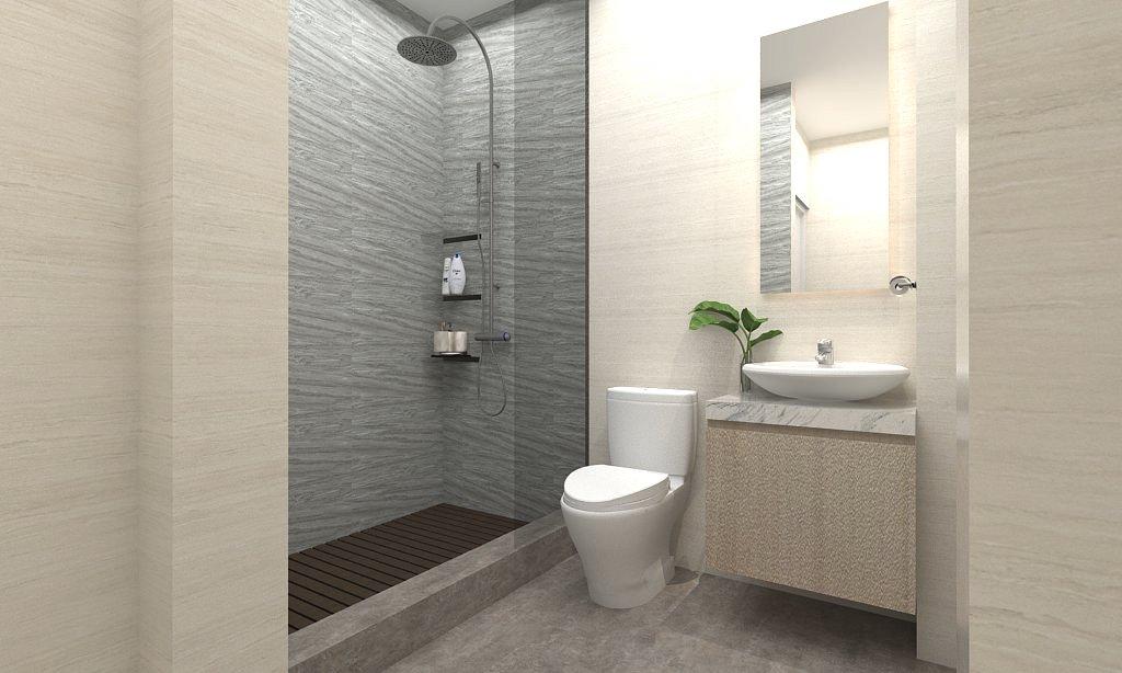 6 Ide Desain Kamar Mandi Minimalis Simple Elegan